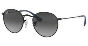 Ray Ban Junior RJ9547S ROUND Childrens Kids Sunglasses MATTE BLACK 201/8G