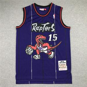 Toronto Raptors Vince Carter 15 Purple Throwback Swingman Jersey Size S-XXL