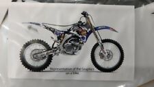 Yamaha YZ250F 2010-13 Sticker kit Seat cover Facelift unlimited graphics F70192