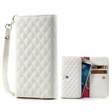 Smartphone Handtasche Handschlaufe Wallet Case iPhone Samsung Sony HTC LG Weiß