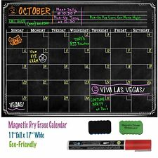 16x12 Refrigerator Magnetic Dry Erase Calendar Home Office Monthly Planner Board