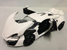 "LYKAN HYPERSPORT, 1:24 Scale, 8.25"" Diecast Model Car Collectible Jada Toy White"