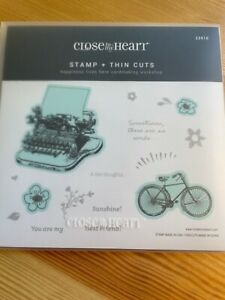 CTMH Close to My heart Acrylic Stamps & Thin Cuts Z3910 Happiness Lives Here NIP