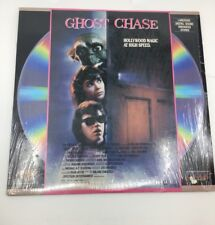 Ghost Chase Laserdisc ~ Rare 1990 Horror Comedy Movie B Movie Image Hole Punch