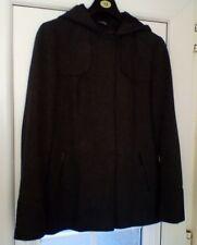 Ladies grey wool mix hooded jacket size 12