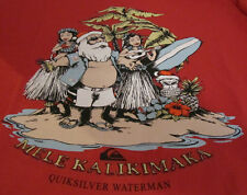 Quiksilver Santa Cruz Waterman Medium T-Shirt~Great Red Holiday in Hawaii Tee!