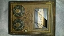 Vintage Post Office Brass/wood Lock Box # 152 Wood Coin Bank