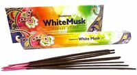 6 Box/Pack 120 Sticks  Darshan WHITE MUSK Quality Incense Fragrance from India