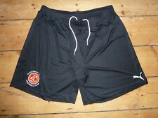"XL (W36"") Fleetwood Town Football Training Shorts Negro Correr Puma 2017/18"