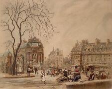 Eugene Veder Paris Street Scene 1929 Etching b1876-1936 Pencil Signed 02536