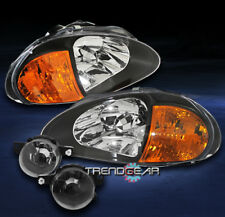 1993 1994 1995 HONDA DEL SOL CRYSTAL BLACK HEAD LIGHT+AMBER CORNER W/DRIVING FOG