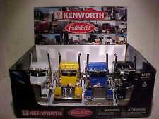 4 Pack Kenworth W900 Peterbilt Semi Truck Rig Diecast 1:32 Newray 10 inch Flames