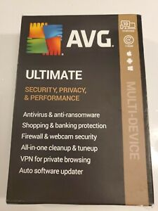 AVG ULTIMATE 2020 10 DEVICES 1 YEAR (Internet Security, VPN & TuneUp) Ship Fast