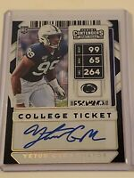 2020 CONTENDERS DRAFT YETUR GROSS-MATOS PENN STATE RC AUTO #10/10 #163 PANTHERS