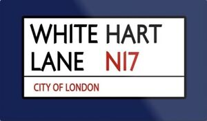 White Hart Lane Metal Sign, Football sign, Tottenham sign. Retro wall sign
