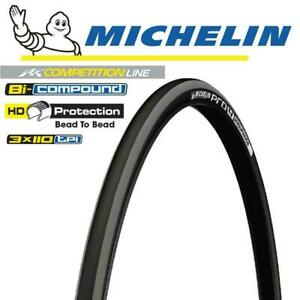 Michelin Road Bike Tyre - Pro 4 Endurance Folding Tyre - 700 x 25C - Grey