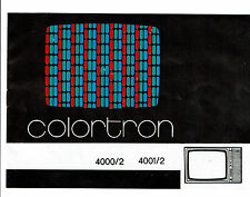DDR-Fernsehgerät colortron 4000/2; 4001/2 -BEDIENUNGSANLEITUNG-