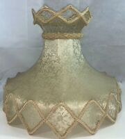 Vintage Large Victorian  22.5 x 19 Inch Lace Lamp Shade
