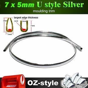 Moulding Trim Chrome Silver Auto Air Vent Grille Door Hood Edge Decoration 6M