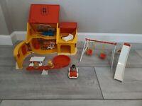 Vintage 1973 Hasbro Disney Winnie the Pooh Weebles Play Set House, near complete