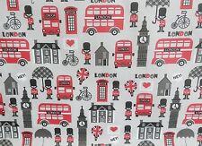 Bundle Remnant Polycotton Fabric 35 cm x 112 cm Grey London City Palace OFFCUT