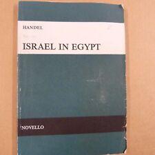VOCAL SCORE Handel ISRAELE in Egitto, Novello