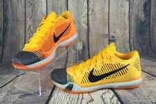 c981256c2547d NIKE Kobe X 10 Elite Low FlyKnit Chester Cheetah Orange Sneaker Shoes  747212-818