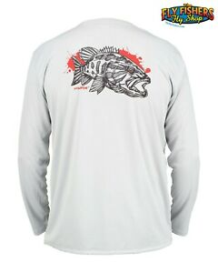 Simms Fishing Solar Tech Tee LS Shirt - XL - Red Eye Smallie - NEW DISCOUNTED
