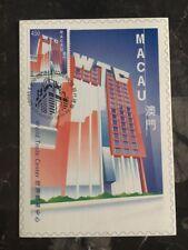 1999 Macau PostCard Exhibition Cover World Trade Center 4.5 Pataca Stamp