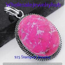 Plated Handmade Pendant P-6237 Larimar Gemstone 925 Sterling Silver
