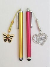#5304- HANDCRAFTED RED GOLDEN TOUCH SCREEN CAPACITIVE STYLUS w/ HEART BUTTERFLY