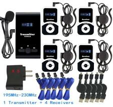 Pro Atg-100T Wireless Tour Guide System 195-230Mhz 99Id 1 Transmitter 4 Receiver