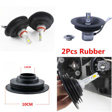 2pcs 38mm Rubber Waterproof Car LED HID Headlight Housing Seal Dust Cover Cap