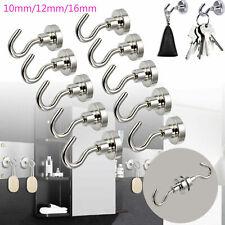 1/5/10x Strong Magnet Hooks Rare Earth Neodymium Magnetic Hanger Holder Magnets