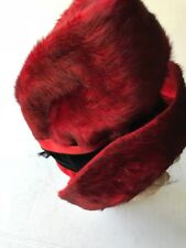 Red Fur Womans Hat SMALL Naiman's French American Reproductions Phila Pa