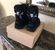 UGG W mini Bailey Bow II Shimmer, Black, Size 8 M
