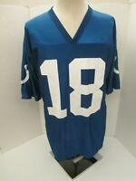 INDIANAPOLIS COLTS  #18 PEYTON MANNING NFL PLAYERS  MEN'S LARGE BLUE JERSEY