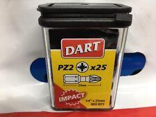 DART TOOLS -- IMPACT DRIVER BITS - PACK 25 - 25mm LONG CHEAP