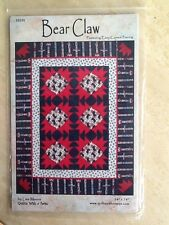 Lap or wall hanging quilting pattern Quilts With A Twist Bear Claw new