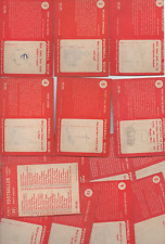 A&BC 1959 Football Quiz red back Series 1 (1 - 49) choose from list
