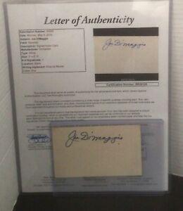 Joe DiMaggio Signed Autograph Index Card JSA LOA Cut Auto