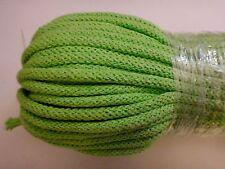 Baumwollkordel in 30 Farben, Ø 5 mm mit Kern, grasgrün (apfel)