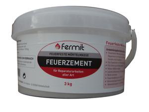 Fermit Feuerzement 3 kg feuerfester Zement Ofenbau Feuermörtel Ofenbaumörtel