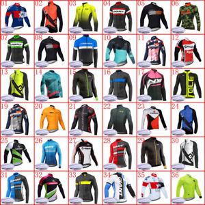 New winter cycling Jersey 2020 Men thermal fleece long sleeve shirt bike outfits