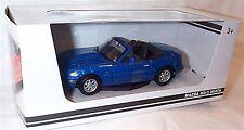 Mazda MX-5 MIATA in Blue Motor Max 1-24 Scale Model New in box