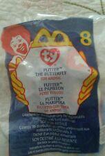 2000 NIP Ty Teenie Beanie McDonalds Happy Meal Toy Flitter the Butterfly # 8 NEW