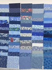 "162 CHARM 4"" SQUARE PACK Bundle BLUE Quit Kit Precut Fabric Calico OOP Squares"
