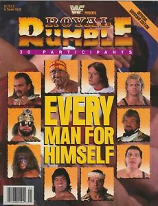 WWF Royal Rumble 1990 Wrestling Magazine Program WWE Vintage Hulk Hogan