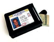 Genuine Leather Men's Credit Card ID Business 20 Card Pocket Holder Wallet