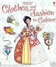Clothes & Fashion Adult Colouring Book Creative Art Therapy Relax Calm Gift